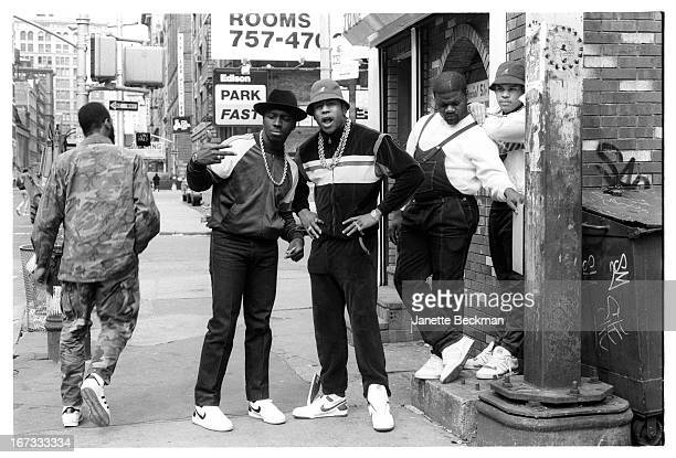 LL Cool J with Cut Creator E Love and BRock Manhattan New York 1987