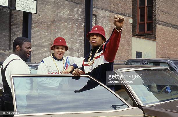 LL Cool J with E Love and BRock Manhattan New York 1987