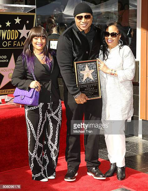 Cool J with his wife Simone Smith and mother Ondrea Smith attend the ceremony honoring LL Cool J with a Star on The Hollywood Walk of Fame held on...