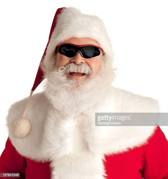 Cool, Jolly Santa Claus on White. L