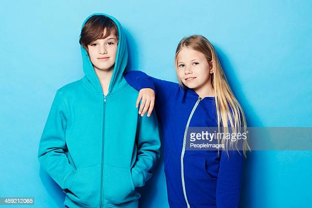 cool kids - sweatshirt stock pictures, royalty-free photos & images