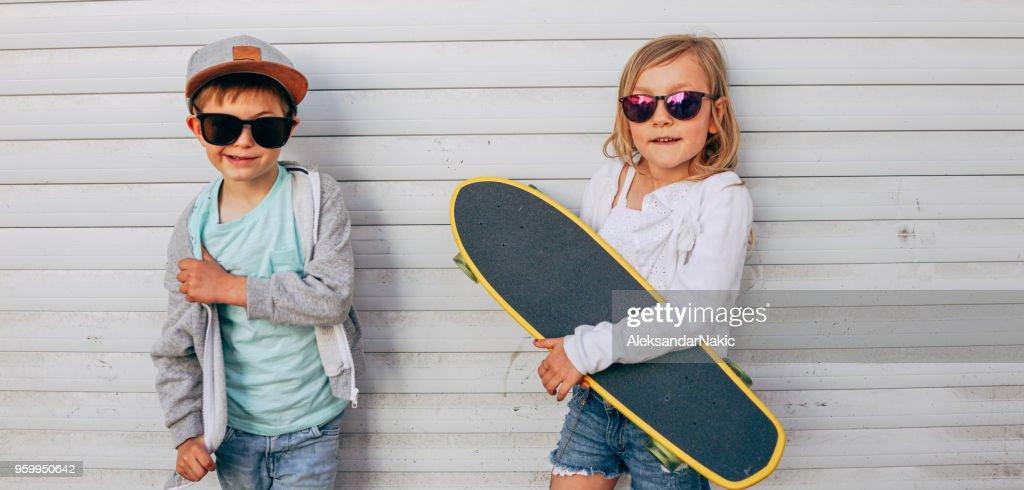 Coole kids : Stock-Foto