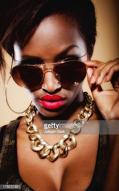 cool look - gold chain stock photos and pictures