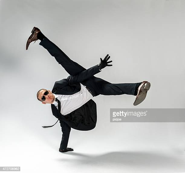 cool looking,breakdancing businessman, free run - breakdancing stock photos and pictures