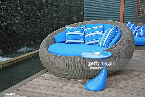 Cool lounge Chair In Resort