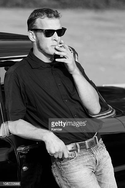 cool man smoking