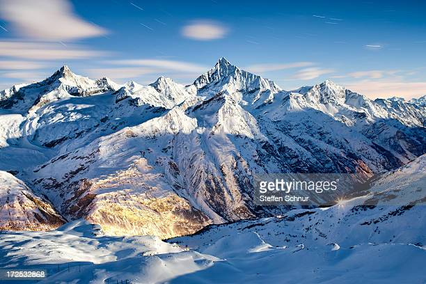 cool night - european alps stock photos and pictures
