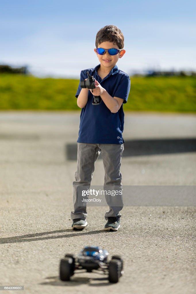 Cool Remote Control Car Kid : Stock Photo