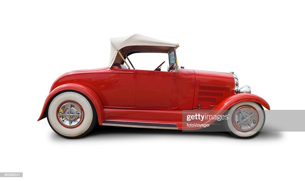 Cool retro car with clipping paths : Stock Photo