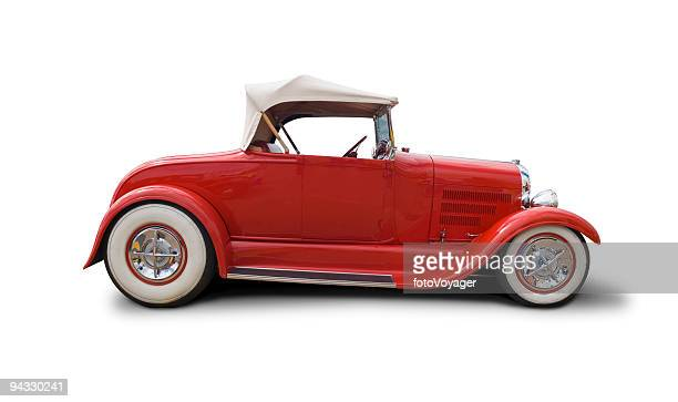 cool retro car with clipping paths - hot rod car stock photos and pictures
