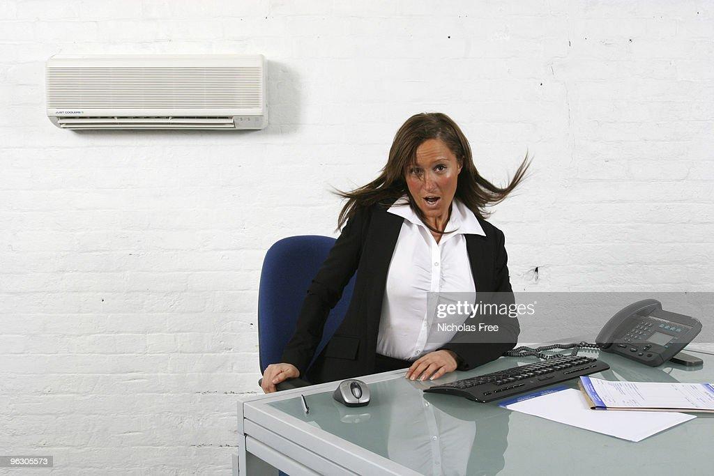 Cool Secretary : Stock Photo
