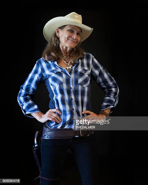 Cool senior rancher
