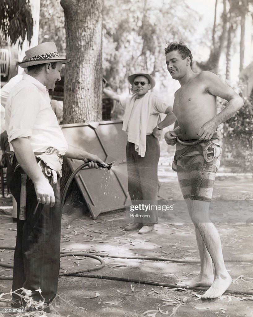 Errol Flynn Behind the Scenes in Bathing Suit Pictures Getty Images