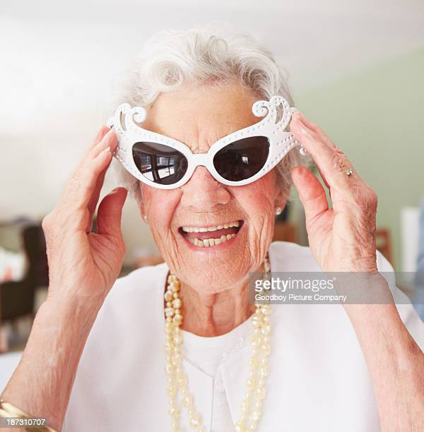 cooler than your average gran - old lady funny stock pictures, royalty-free photos & images