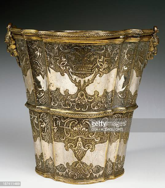 Coolers silverplated copper with gilt bronze embellishment Veneto Italy 18th century Milan Castello Sforzesco Civiche Raccolte D'Arte Applicata Ed...