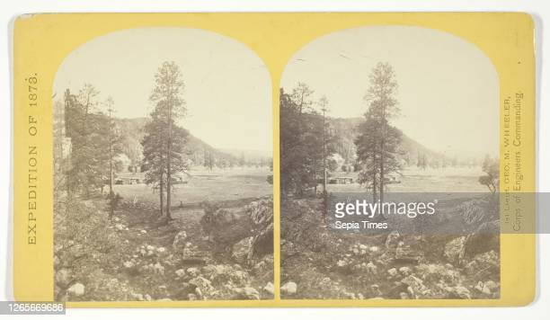 Cooley's Ranch, 10 miles east of Camp Apache, Arizona. A characteristic mountain Park and Apache Indian Farm. Here the Apaches grow corn, wheat and a...