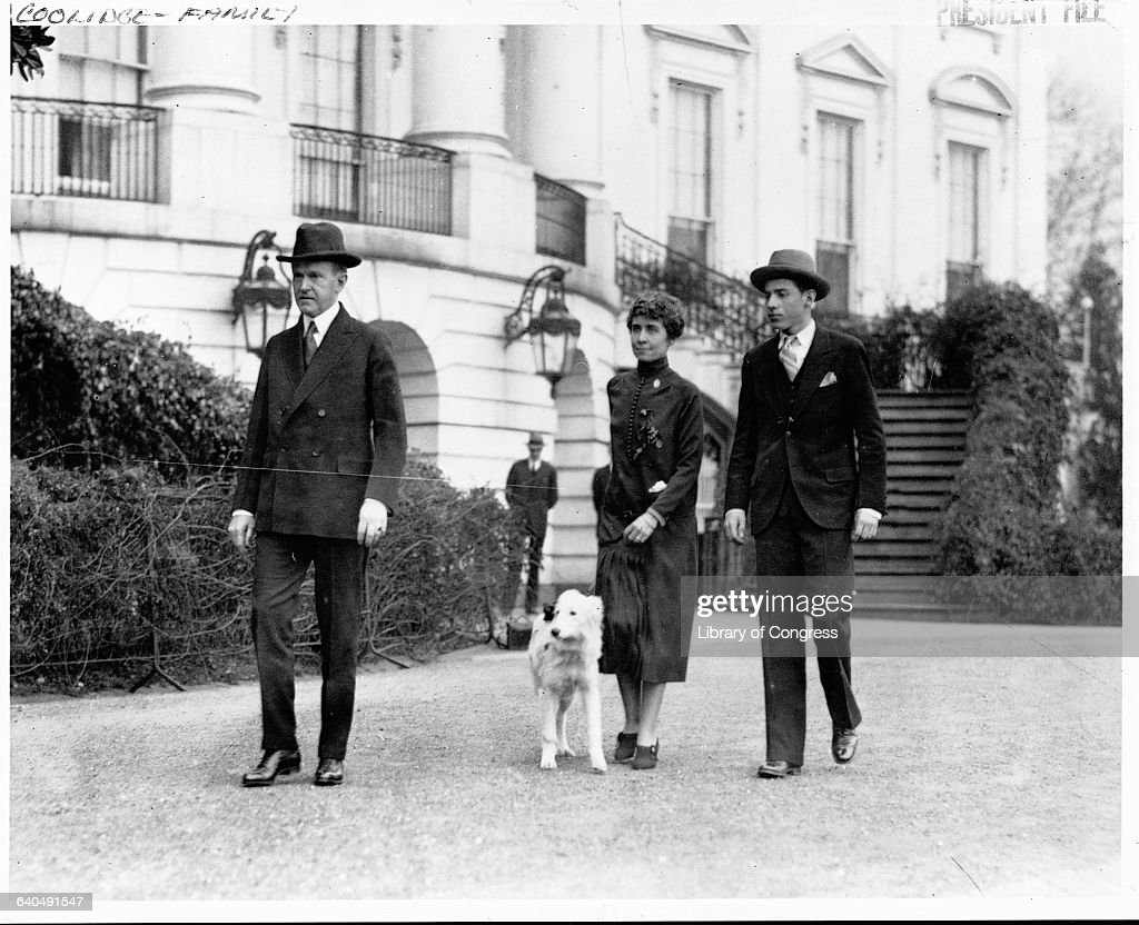 Coolidge Family at White House : News Photo