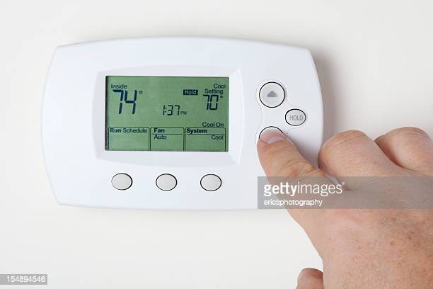 cooling the right way - thermostat stock photos and pictures