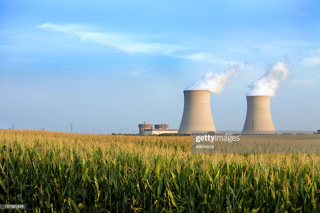 cooling towers byron IL : Stock Photo