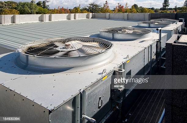 Cooling towers with fans