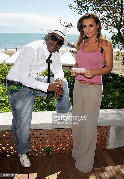 Coolio and Antonia De Mita in Venice during day 8 of the 64th Venice Film Festival on September 5, 2007 in Venice, Italy.