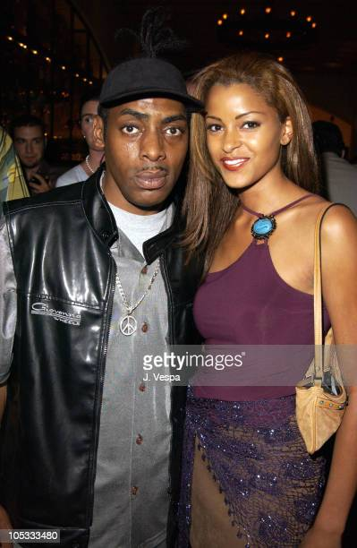 Coolio and Claudia Jordan during Simone Premiere AfterParty at Napa Grille in Westwood California United States