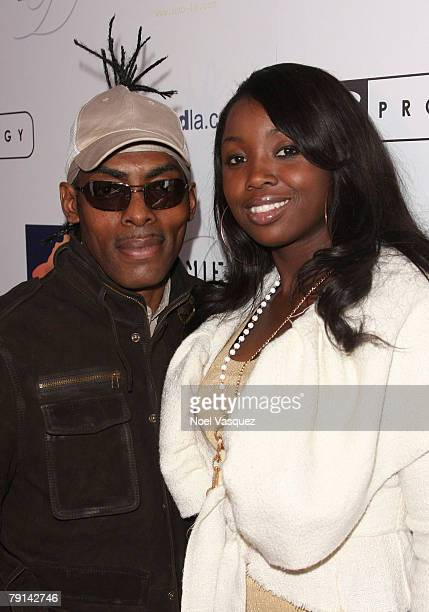 Coolio and Josefa Salinas attend the Prodigy Athletics First Quarter KickOff Party at the The Day After Nightclub on January 20 2008 in Los Angeles...