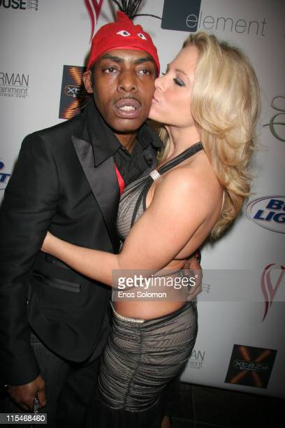 Coolio and Kim Chambers during Ron Jeremy Birthday Bash Hosted by Stormy Daniels in Association with Penthouse and Esterman March 10 2007 at Element...