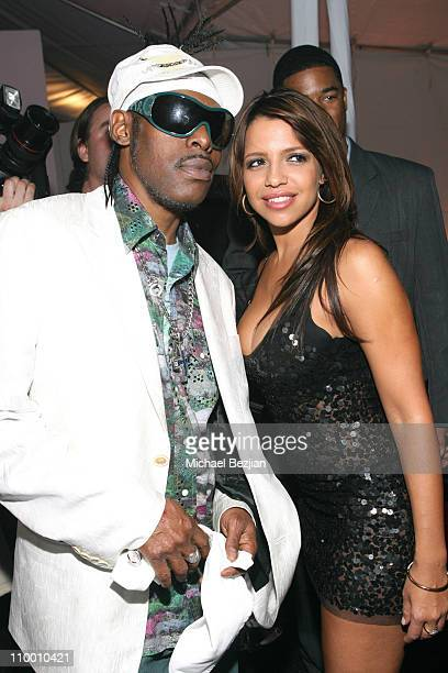 Coolio and Vida Guerra during Kiss & Tell Party Benefiting The Maddbacker Foundation - April 21, 2007 at Playboy Mansion in Los Angeles, California,...