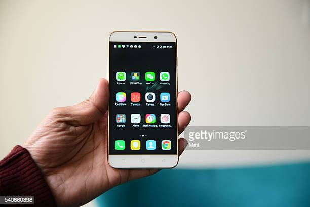 Coolpad Note 3 Lite smartphone on January 26 2016 in New Delhi India Coolpad Group Limited is a Chinese telecommunications equipment company...