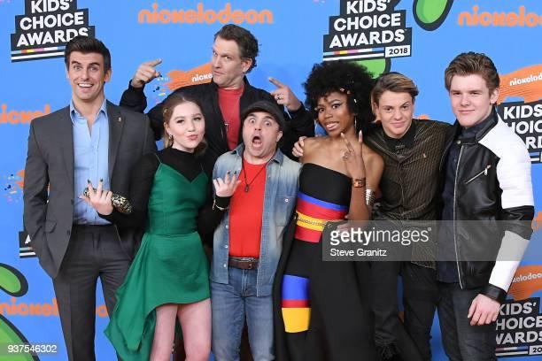 Cooper Barnes, Ella Anderson, Jeffrey Nicholas Brown, Michael Cohen , Riele Downs, Jace Norman, and Sean Ryan Fox attend Nickelodeon's 2018 Kids'...