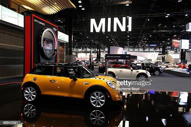 Cooper cars on display at the 106th Annual Chicago Auto Show at McCormick Place in Chicago Illinois on FEBRUARY 06 2014