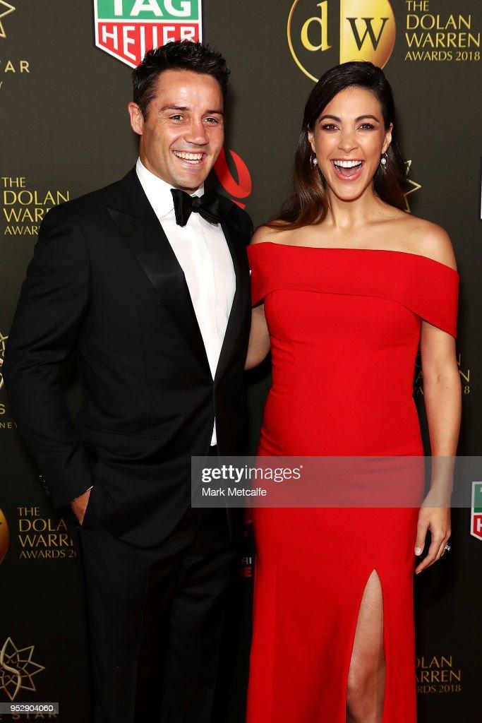 Cooper Cronk and Tara Rushton arrive ahead of the FFA Dolan Warren Awards at The Star on April 30, 2018 in Sydney, Australia.