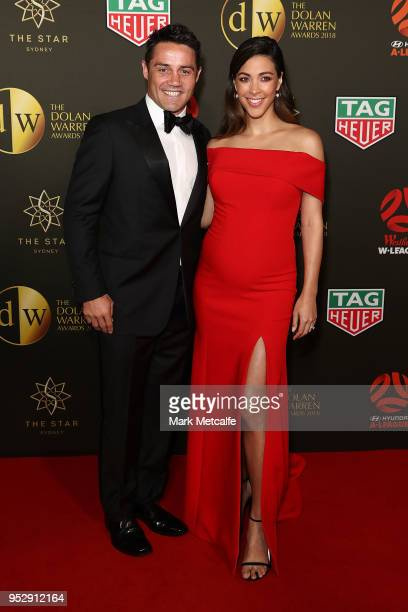 Cooper Cronk and Tara Rushton arrive ahead of the FFA Dolan Warren Awards at The Star on April 30 2018 in Sydney Australia
