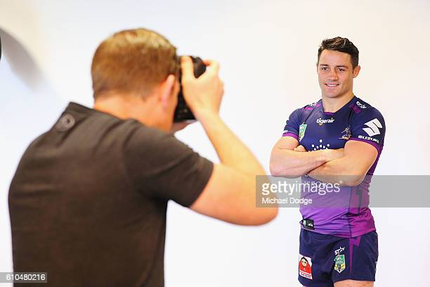 Cooper Cronk of the Storm poses during a Melbourne Storm NRL media opportunity at AAMI Park on September 26 2016 in Melbourne Australia