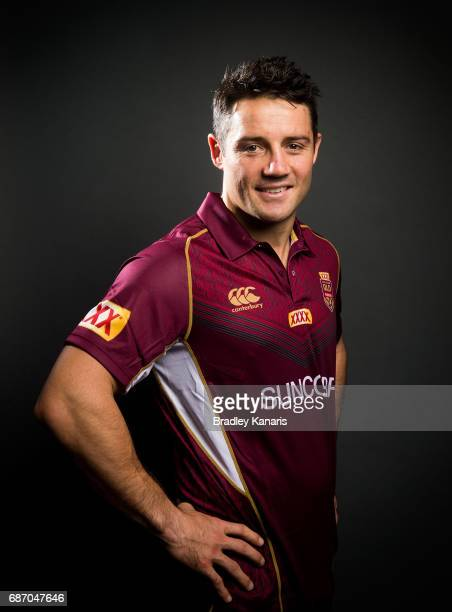 Cooper Cronk poses for a portrait during a Queensland Maroons State of Origin media opportunity at Rydges South Bank on May 23 2017 in Brisbane...