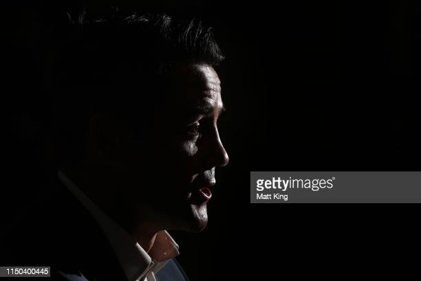 Cooper Cronk speaks to the media during a Sydney Roosters NRL press conference at the Sydney Cricket Ground on May 20, 2019 in Sydney, Australia.