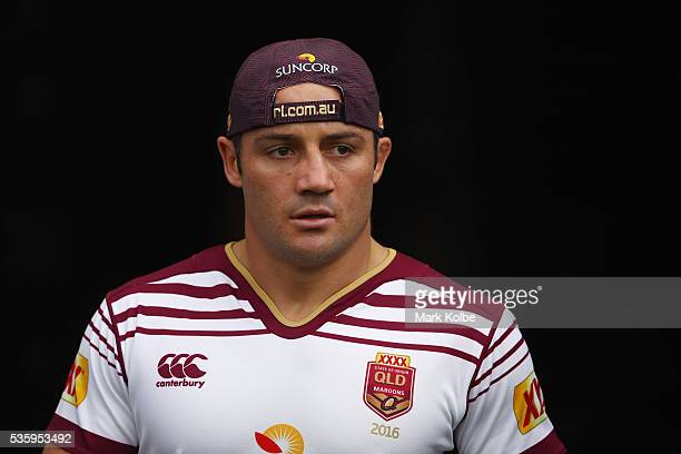 Cooper Cronk walks out of the tunnel during a Queensland Maroons State Of Origin captain's run at ANZ Stadium on May 31 2016 in Sydney Australia