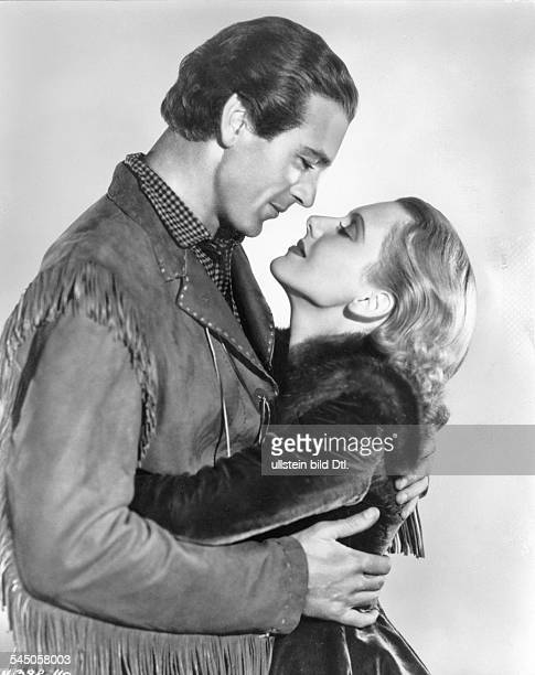 Cooper Gary *Schauspieler USA mit Jean Arthur in dem Film 'Held der Praerie' Regie Cecil B DeMille USA 1936
