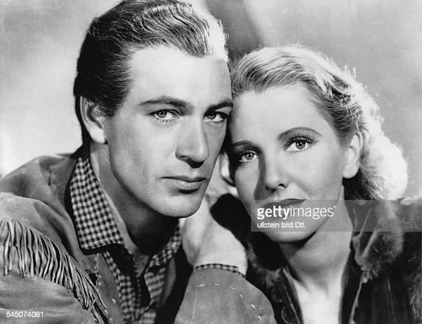 Cooper Gary *Schauspieler USA mit Jean Arthur in dem Film 'Held der Prairie' Regie Cecil B DeMille USA 1936