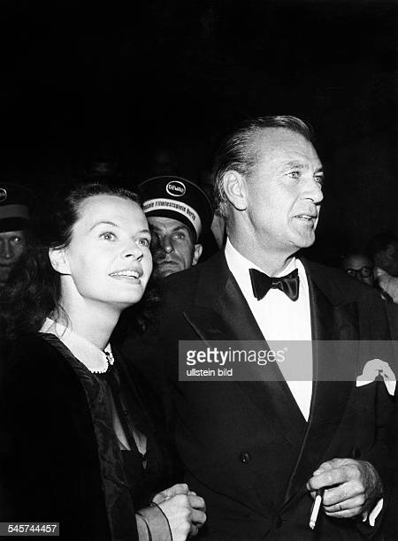 Cooper Gary *Schauspieler USA mit Margot Hielscher bei den Filmfestspielen Berlin 1953