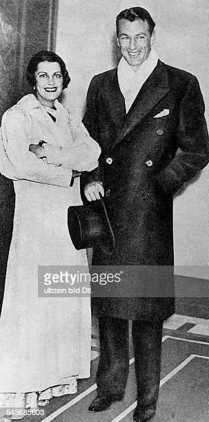 Cooper Gary *Schauspieler USA mit seiner Ehefrau Veronica Balfe 1938