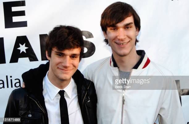 Cooper Hefner and Marston Hefner arrive at the Thalians 55th Anniversary Gala honoring Playboy publisher and founder Hugh Hefner at The Playboy...
