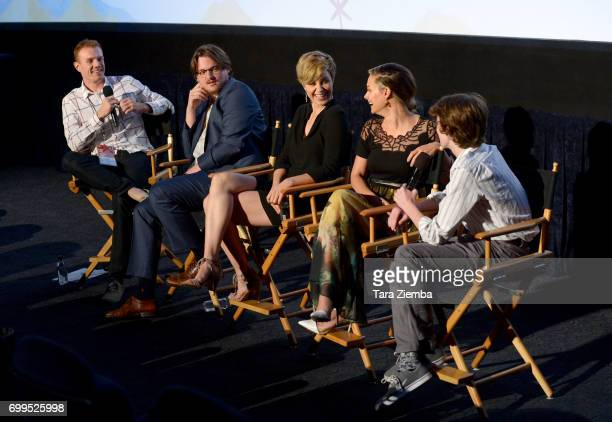 """Cooper Hopkins, Sam Patton, Jaimi Paige, Alyshia Ochse, and Toby Nichols attend the screening of """"Desolation"""" during the 2017 Los Angeles Film..."""
