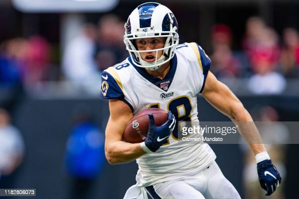Cooper Kupp of the Los Angeles Rams in action during a game against the Atlanta Falcons at MercedesBenz Stadium on October 20 2019 in Atlanta Georgia