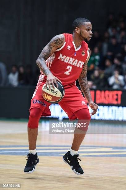 DJ Cooper of Monaco during the Pro A match between Nanterre 92 and Monaco on January 21 2018 in Nanterre France