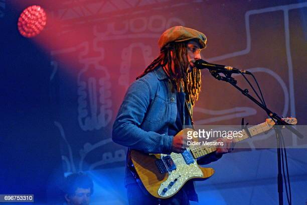 Cooper performs on stage during day 3 of the Pinkpop festival on June 5 2017 in Landgraaf Netherlands