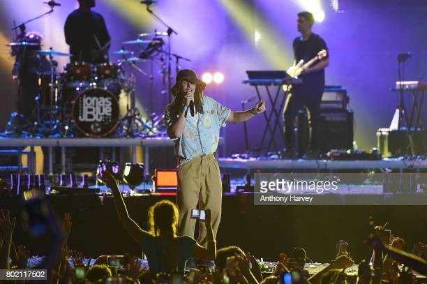 Cooper performs with Jonas Blue at the annual Isle of MTV Malta event at Il Fosos Square on June 27 2017 in Floriana Malta