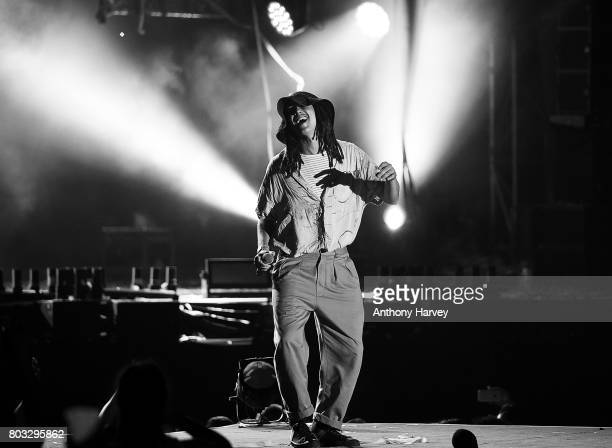 JP Cooper performs with Jonas Blue at the annual Isle of MTV Malta event at Il Fosos Square on June 27 2017 in Floriana Malta