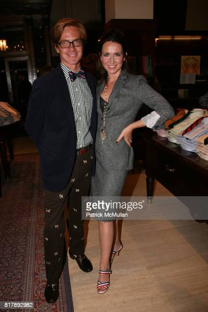 K Cooper Ray and Janie Bryant attend The launch of 'True Prep' at Brooks Brothers on September 14 2010 in New York